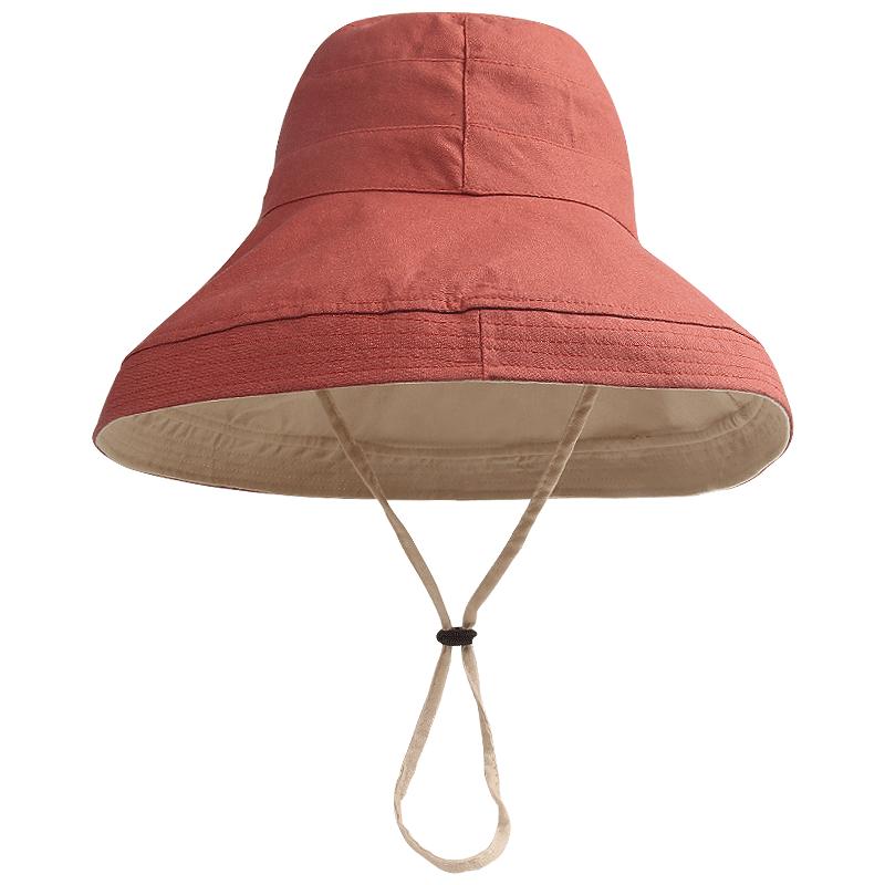 帽子女韩版潮百搭网红遮阳帽防晒紫外线大沿遮脸日系渔夫帽女士夏