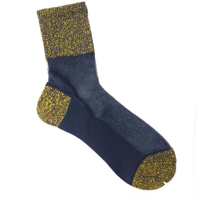 袜子女日系透明玻璃丝袜银葱冰丝水晶袜夏季简约透气超薄款纯棉底