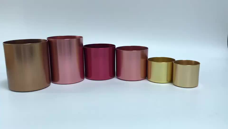Brass,copper,gold soy candle container jars wholesale