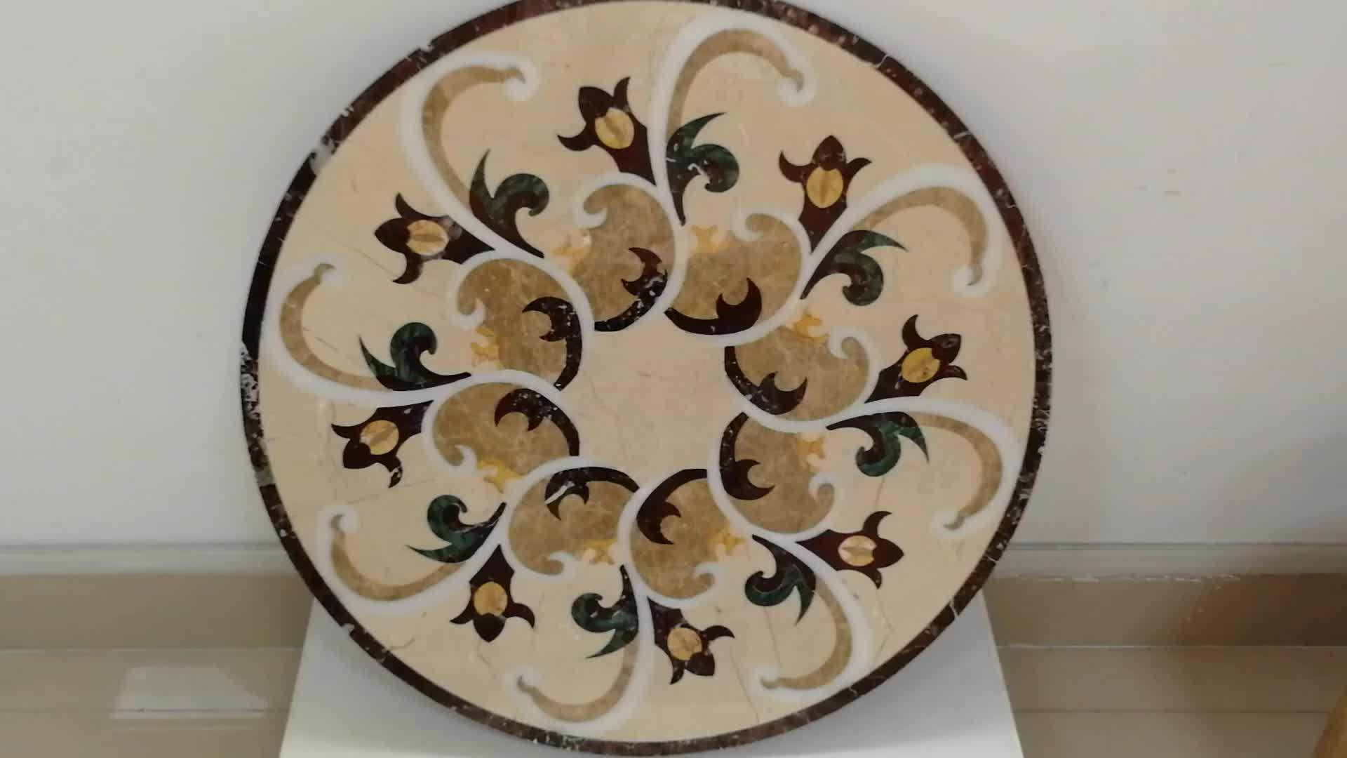 Inexpensive star shape marble medallion