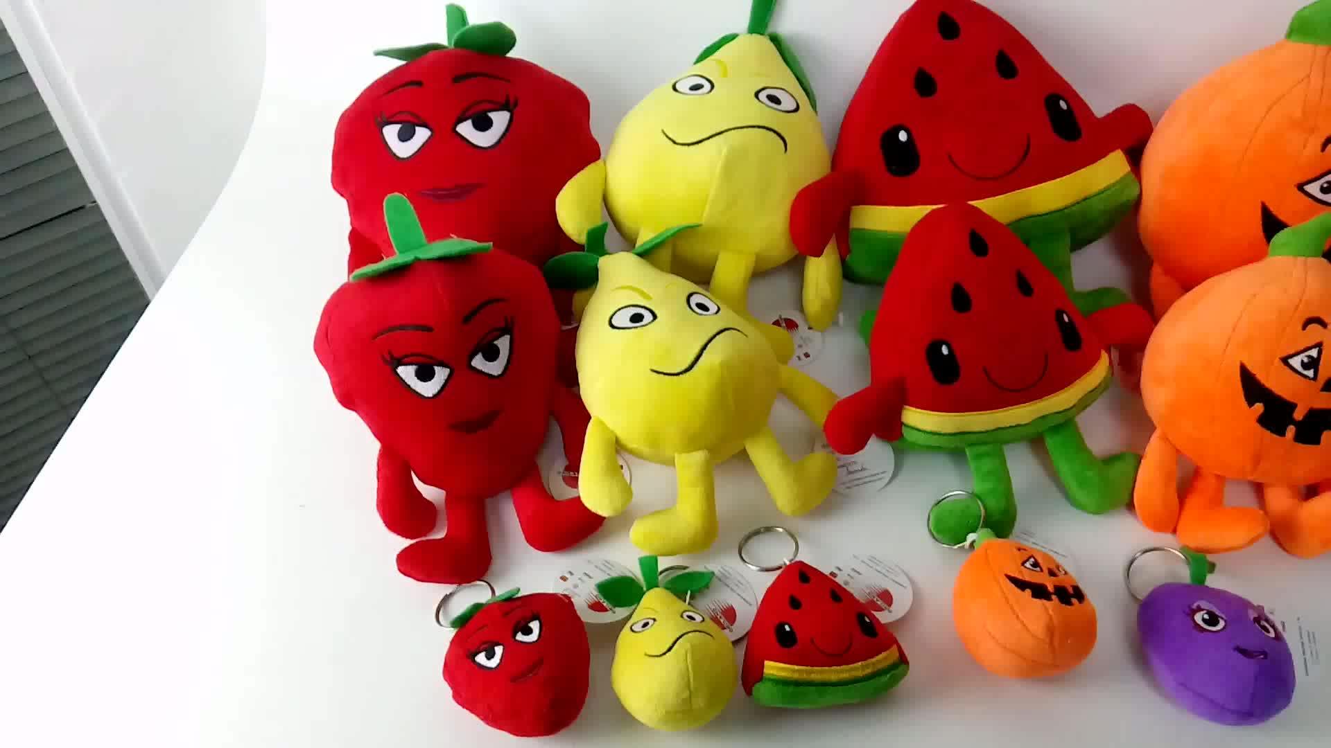 Мягкие плюшевая игрушка брелок милые оранжевые фруктовые игрушки брелок