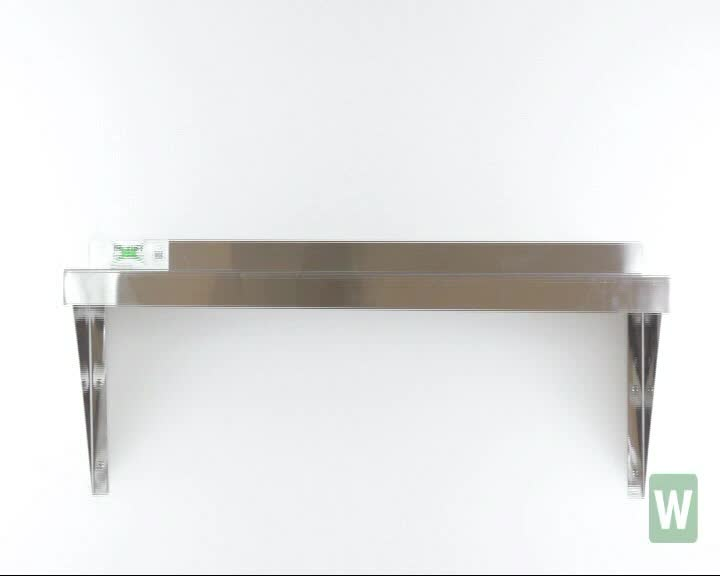 NSF Listing Different Size Stainless Steel Kitchen wall mount shelf for restaurant & hotel