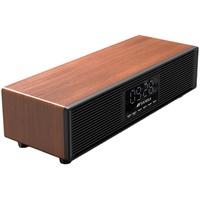 Sansui/山水P300无线蓝牙音箱大音量3d环绕手机电脑桌面木质复古迷你小音响便携式小型重低音炮家用客厅