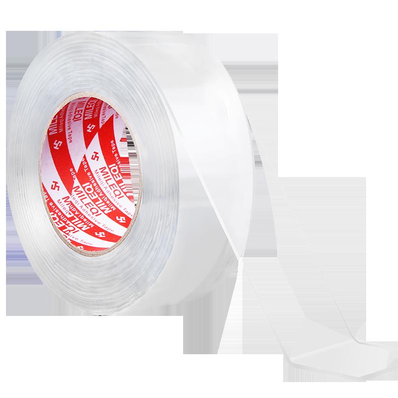 網紅同款納米雙面膠米樂奇萬次納米膠帶無痕吸附魔力膠貼強力超薄透明不留痕防水耐高溫玻璃墻面貼高粘度固定