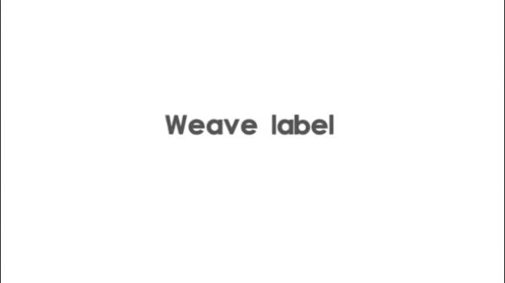 woven and tape rfid Anti-bending custom clothing labels