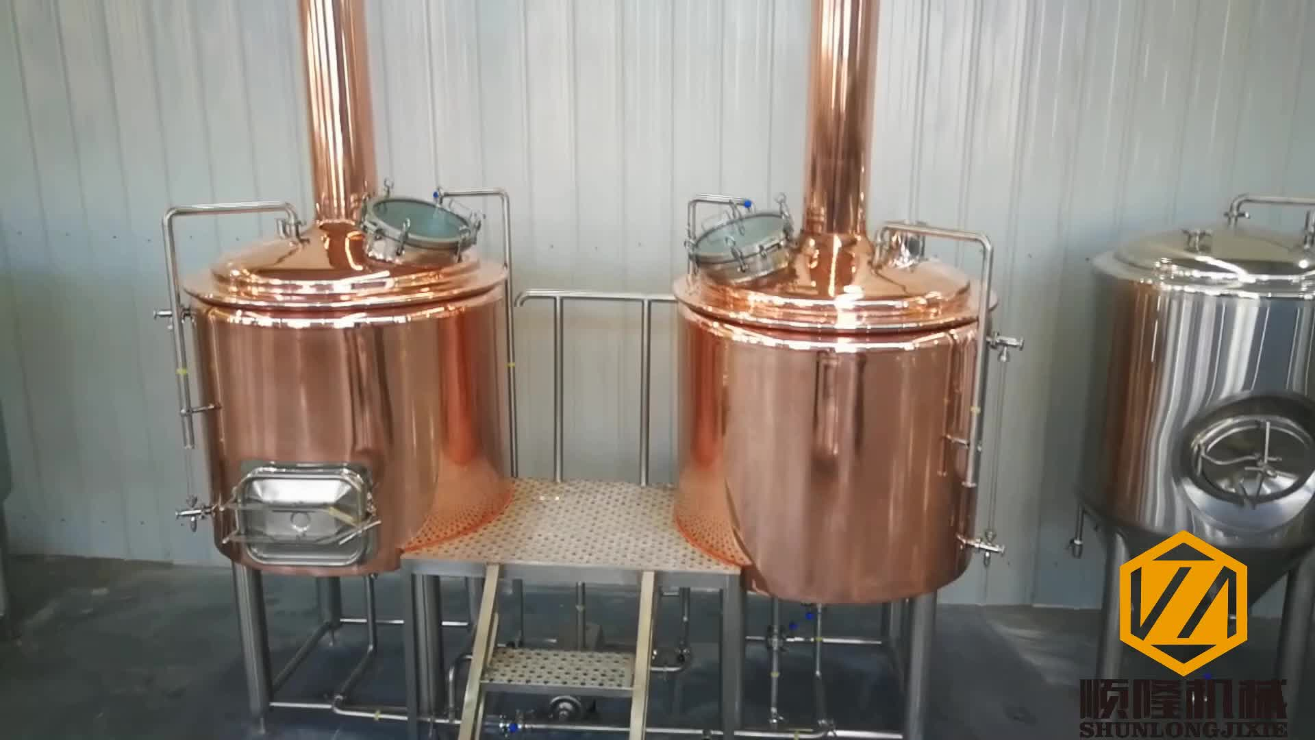 Professional Red copper / 304 Stainless Steel Craft and Micro 5 bbl brewing system