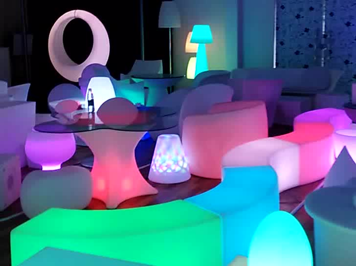 modern sofa furniture / night club plastic sofa set/ glow led sofa - Modern Sofa Furniture / Night Club Plastic Sofa Set/ Glow Led Sofa