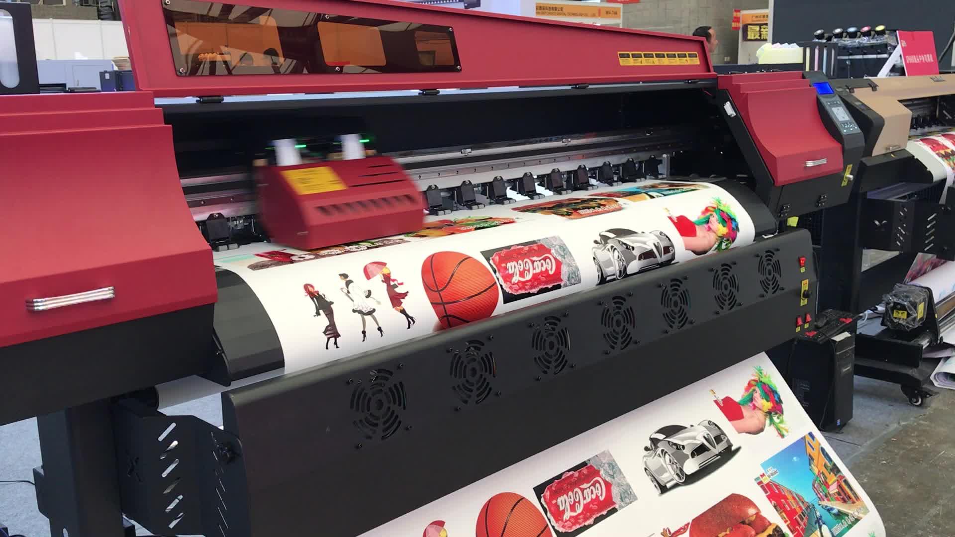 Nieuwe product 1.68 m 1.93 m flex drukmachine japan outdoor multi kleur jet flex drukmachine prijs en specificatie