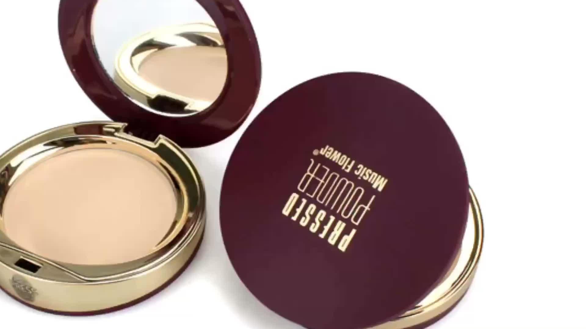 Music Flower Oil Control Face Cream Contour Palette Makeup Set Mineral Pressed face powder