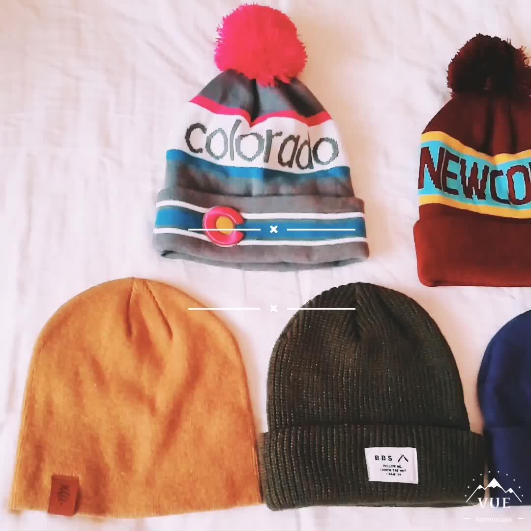 การออกแบบของคุณเองถักหมวกตลกบุรุษฤดูหนาวถักหมวกขนสัตว์