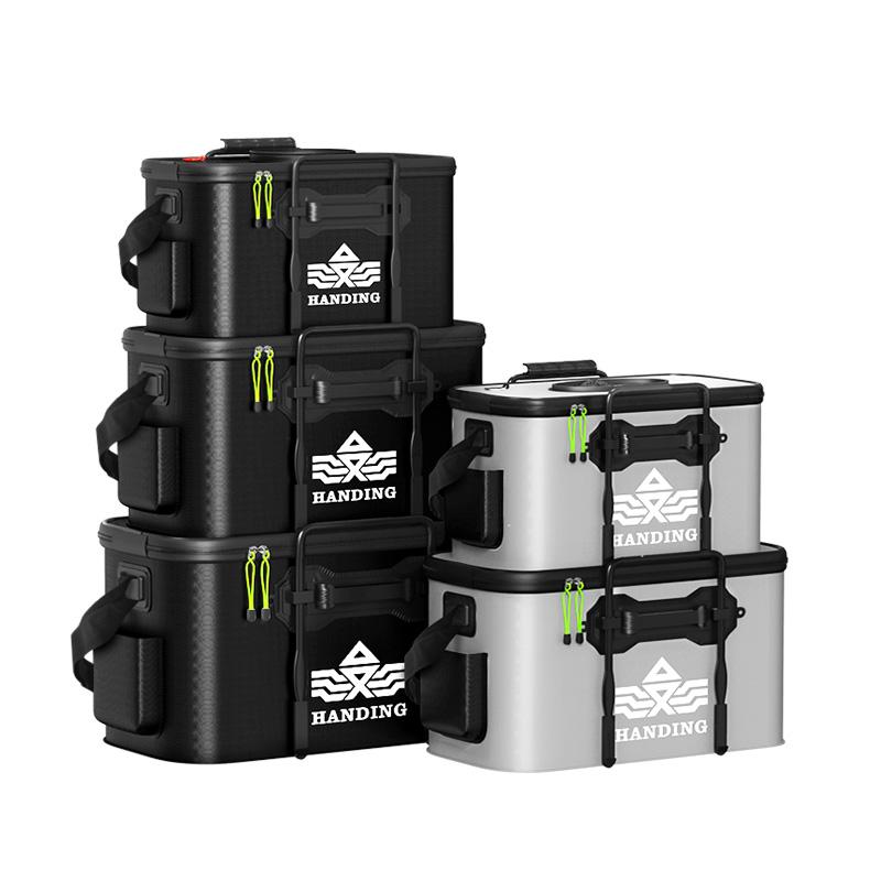 汉鼎活鱼桶装鱼箱钓鱼桶鱼护桶 eva折叠钓箱加厚水桶多功能装鱼桶