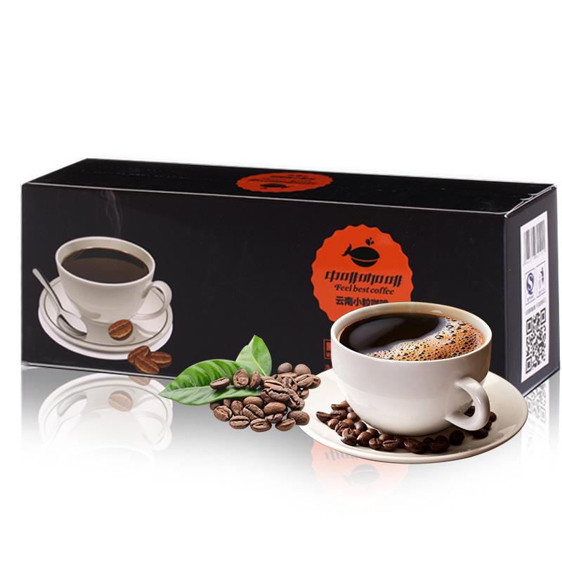 送杯勺 中啡纯黑咖啡粉速溶咖啡苦 拍1发2共80袋条装无添加糖特浓