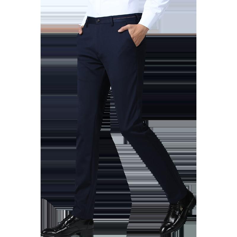 啄木鸟西裤男士秋季修身直筒商务休闲长裤子中青年韩版潮流西装裤