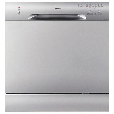 美的W3802H洗碗机全自动家用8套台式嵌入式智能家电消毒刷碗机