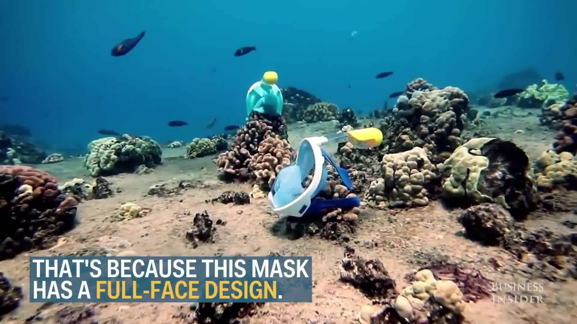 2018 Popular Amazon top seller Easybreath máscara seca completa de mergulho livre respiração fácil mergulho natação rosto cheio 180 máscara de snorkel
