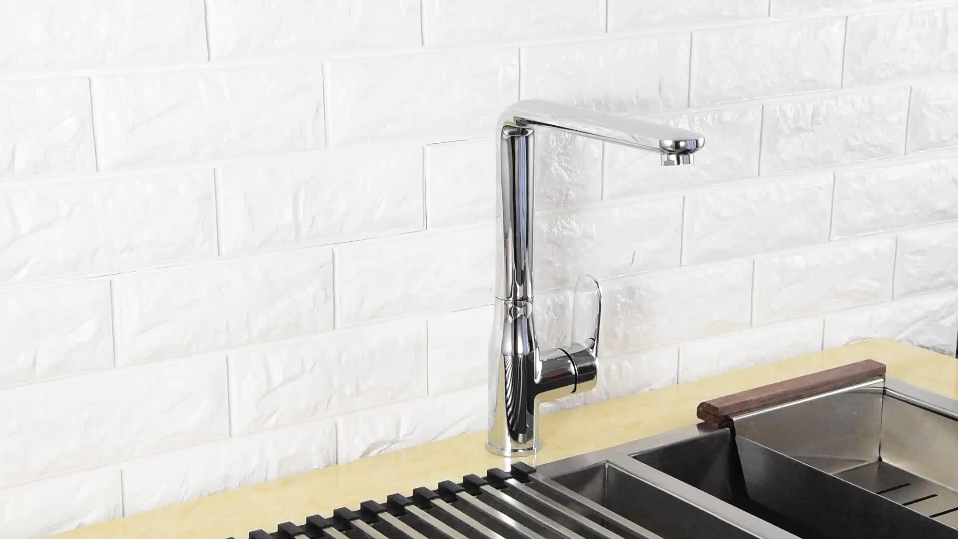 מפעל ישיר מכירות אמבטיה מטבח ברז כרום פליז מוצק אגן כיור ברזי מים