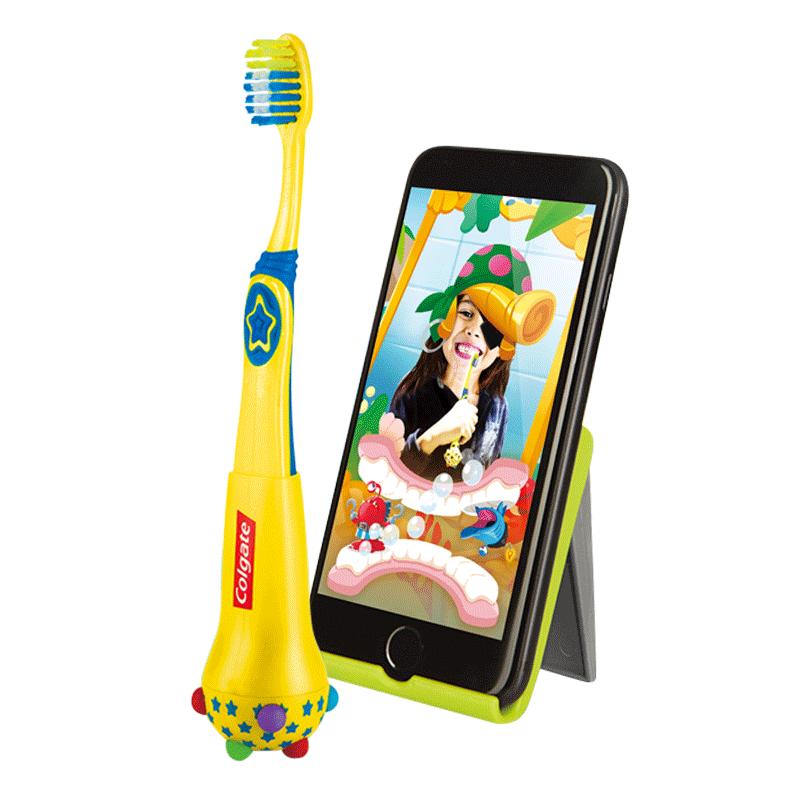 高露洁魔法泡泡儿童智能牙刷软毛幼儿宝宝学习训练不爱刷牙神器