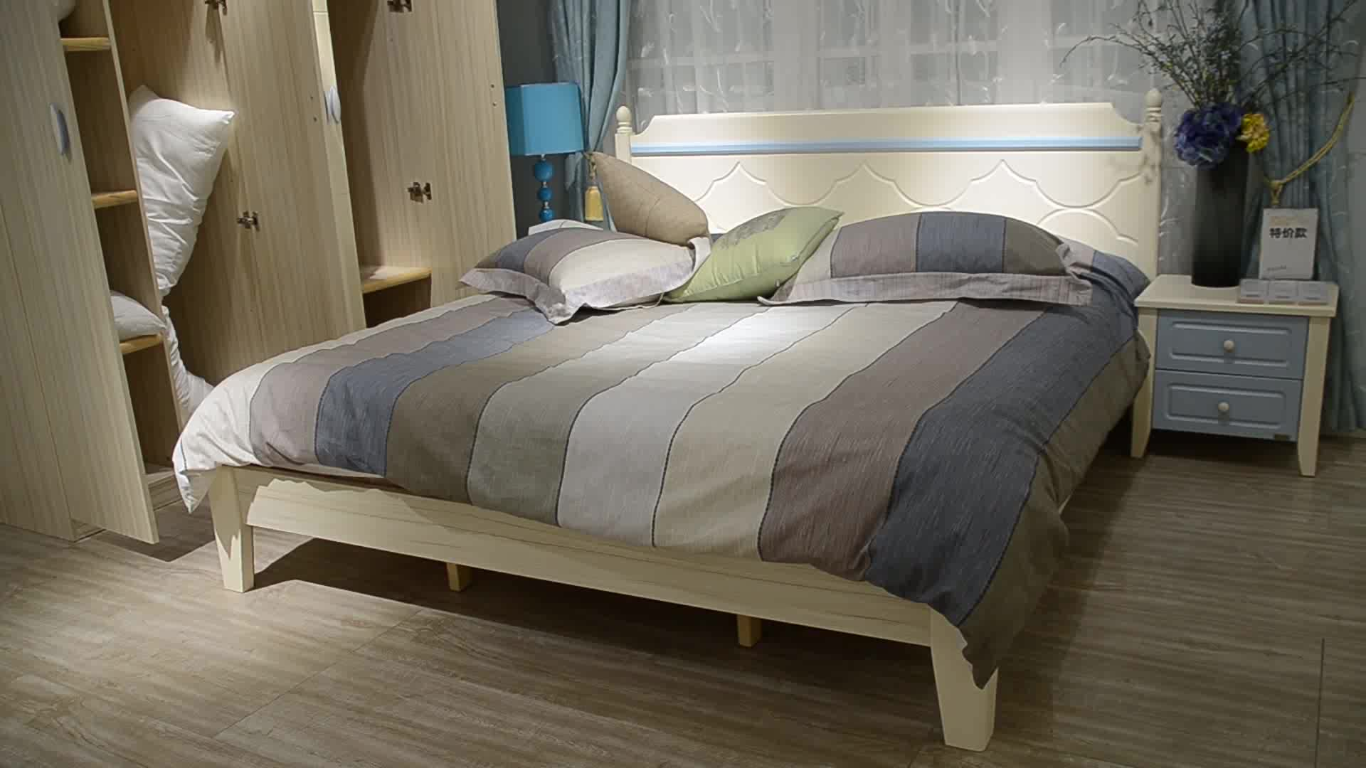 wooden bed designs frame No Boxspring Needed E3602B