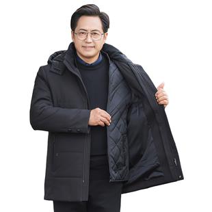 反季爸爸冬装外套加厚父亲50岁男装