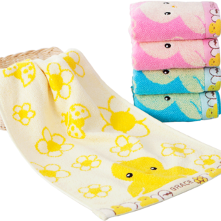 洁丽雅 纯棉小毛巾 面巾 5条装 19.9元包邮