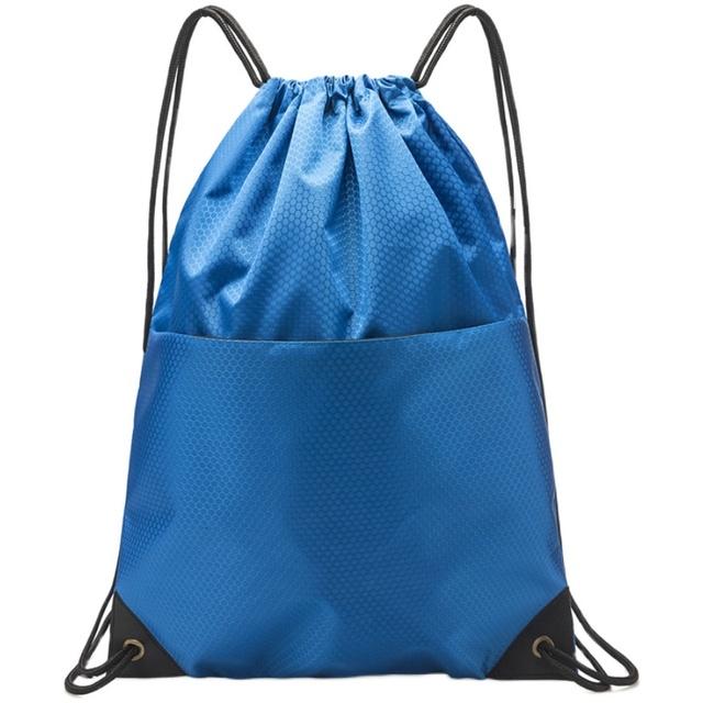 运动防水抽绳双肩背包定制LOGO 广告礼品书包简易赛事束口袋印字