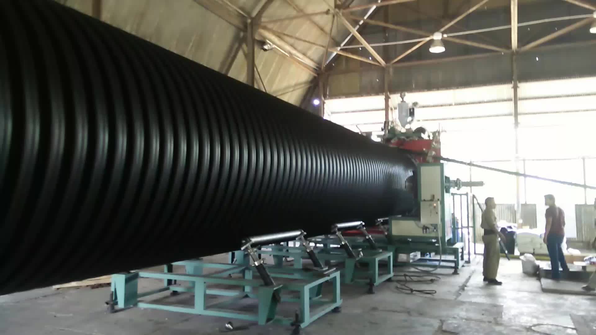 Hdpe spiral drainage pipe extrusion line with large