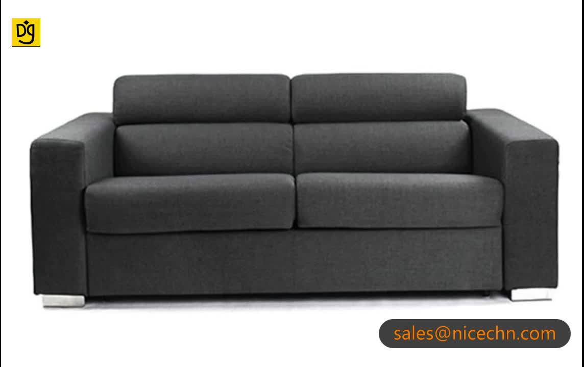 High End Grey Full Size Pull Out Sleeper Sofa Bed With Uk ...