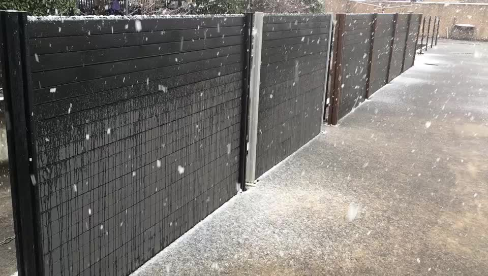 weather resistant wpc fence for outdoor decorative garden fencing in Europe Style,180*180cm fence panels,better than vinyl fence