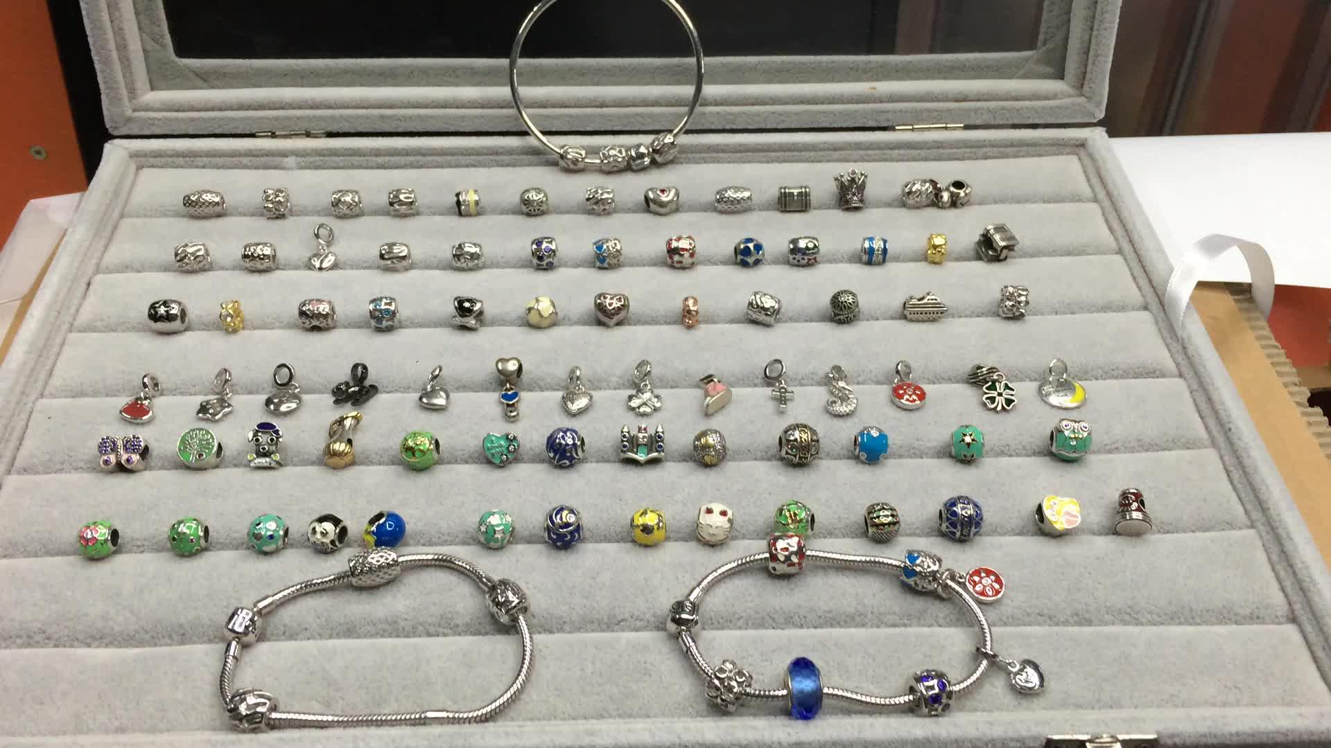 Pas cher en gros charmes argent 925 perles convient pour pandoras serpent fabrication de bracelet