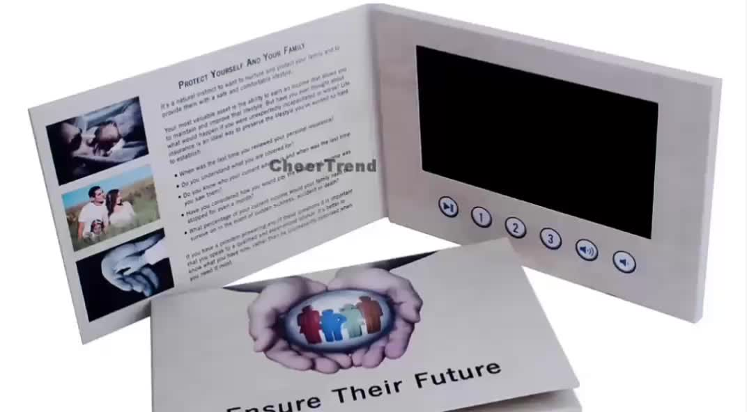 7 inch video brochure lcd card with touch screen