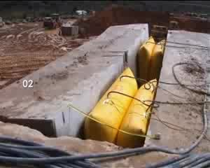 China manufacturer quarry blocks pushing air bag
