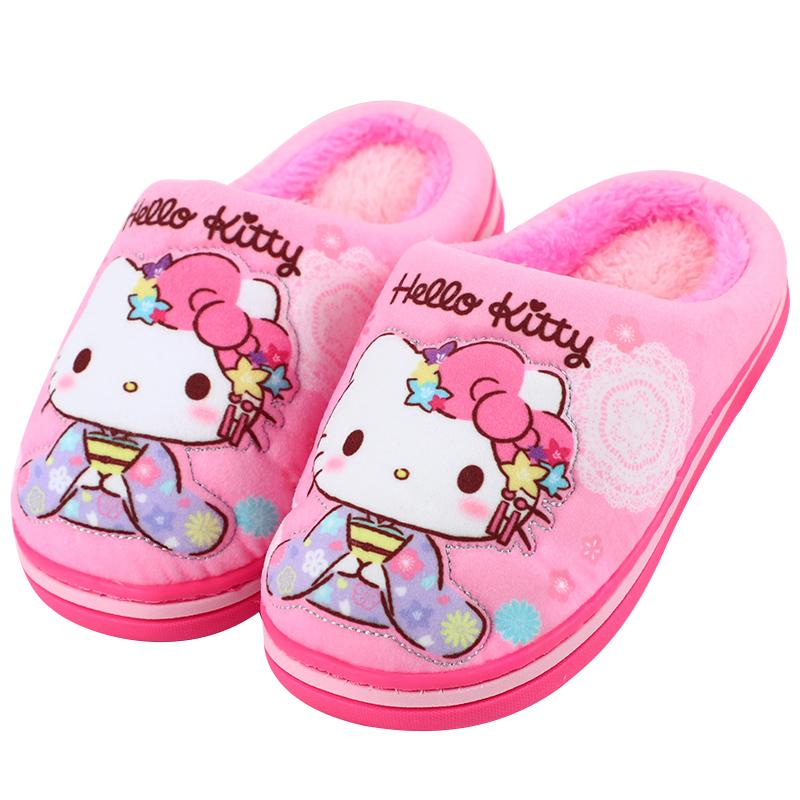 hellokitty儿童拖鞋秋冬女童棉拖鞋质量如何