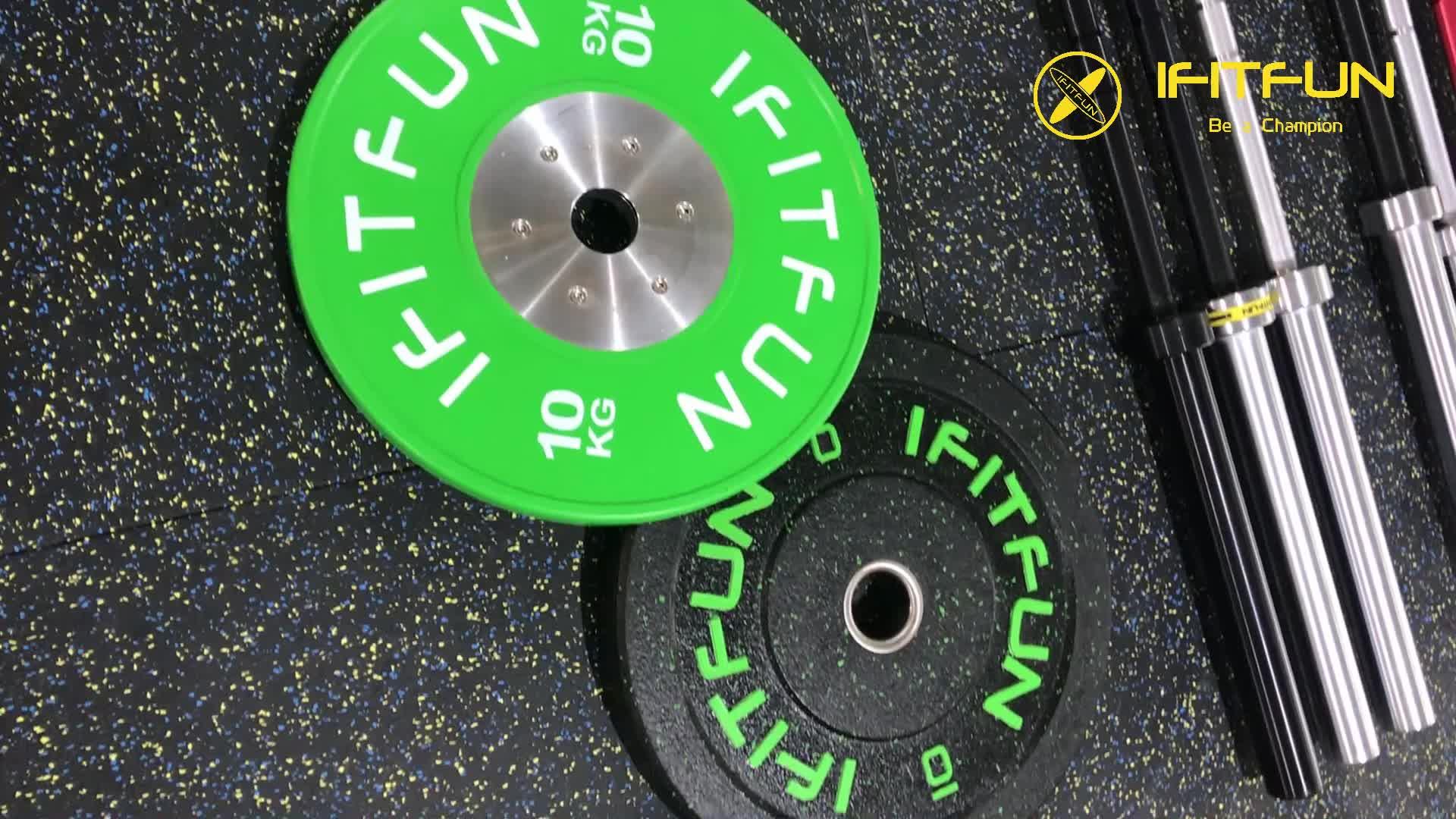 Premium virgin rubber coated concurrentie gewicht bumper platen