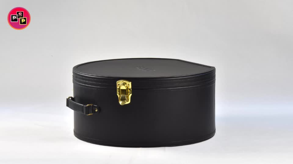 big round suitcase red traveling elegant antique vintage leather top hat box luggage custom