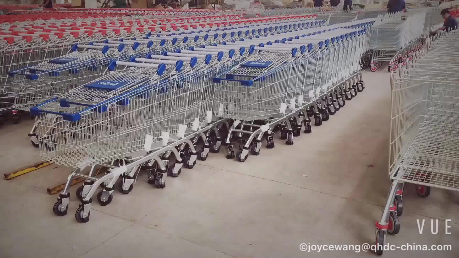 asian style 80 liter supermarket hand trolley cart used shopping carts sale