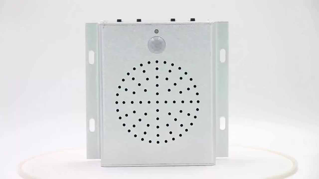 Wireless PIR Motion Speaker, Connected with Relays, Voice Prompt for Escalator Safety Reminder, Entrance Greeting