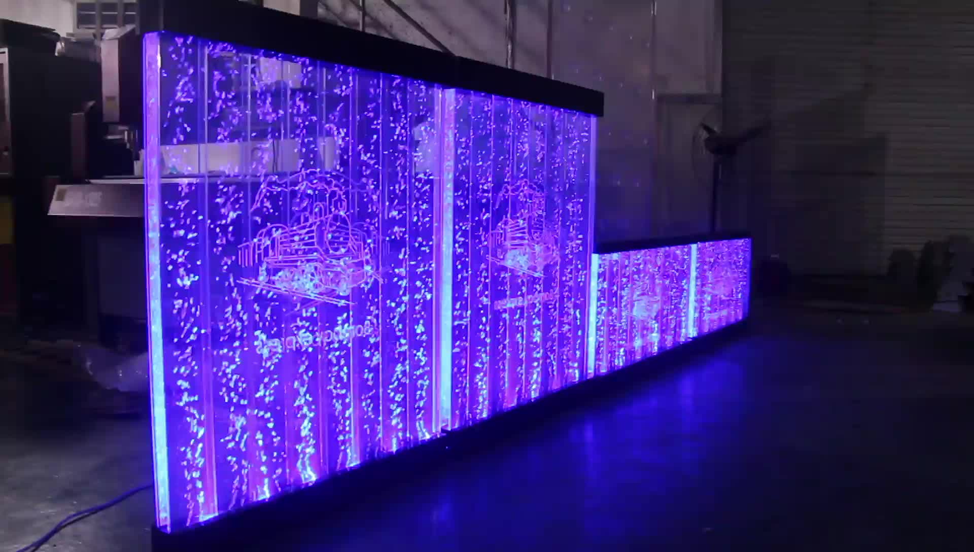 Hotel Decoration Acrylic Water Bubble Wall Partition Room