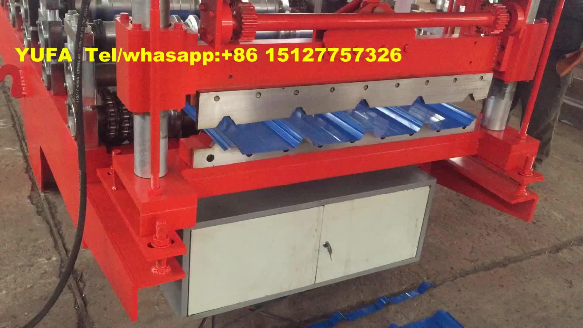 840 galvanisiertes gewölbtes Dachblech, das manuelle Dachziegelherstellungsmaschine herstellt