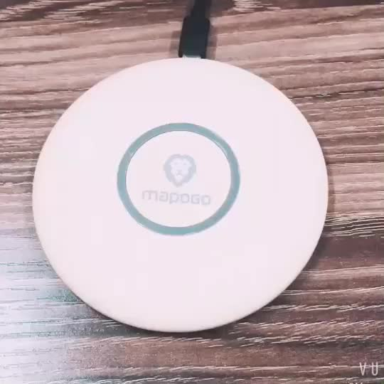 Three color QI standard 7.5W wireless charger fast for iphone