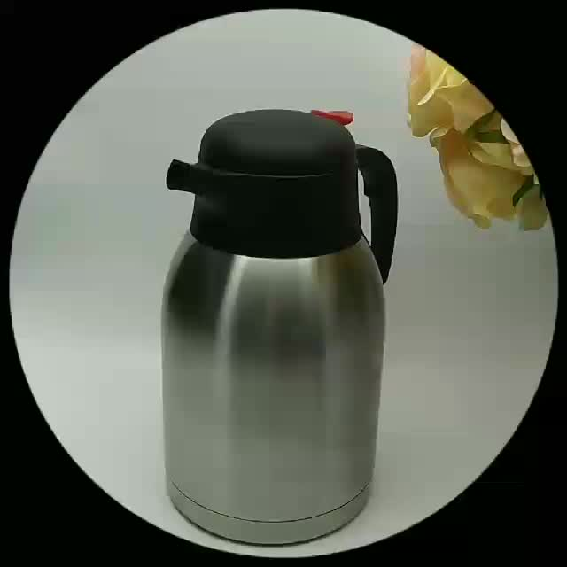New design 2.0L stainless steel vacuum flask for filter coffee machine