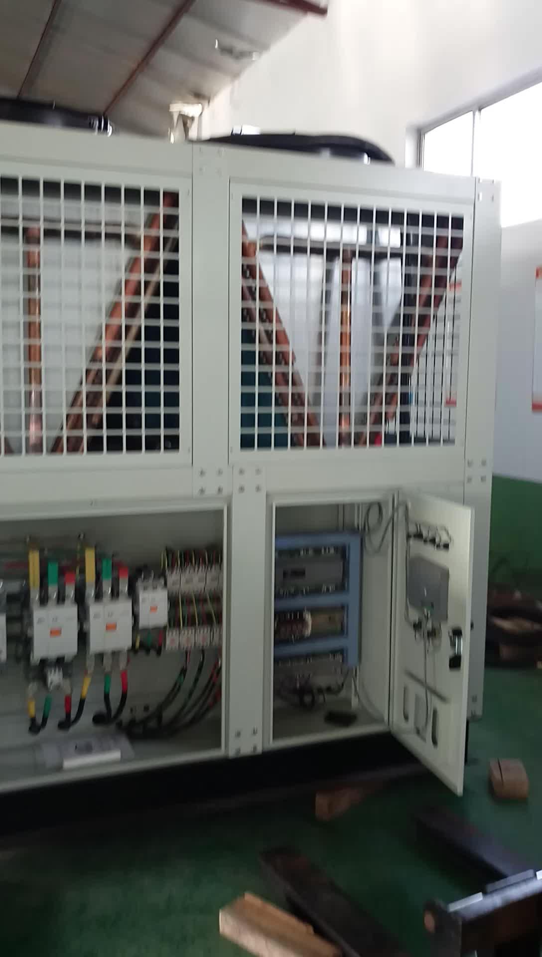 R22/R407c R134a koelmiddel 100HP luchtgekoelde schroef water chiller