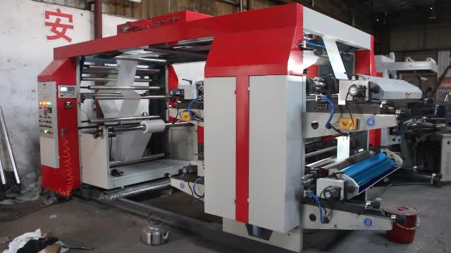 Best Sale High Speed Small Stack Type Polyethylene Plastic Bag And Paper Cup 4 Color Flexo Color Printing Press Machine Price