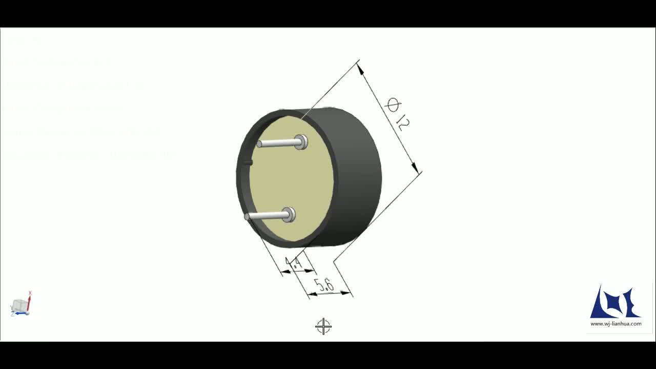 12mm Buzzer Lpt1255 External Drive Mini Piezoelectric Ceramic Piezo Driver Circuit Diagram