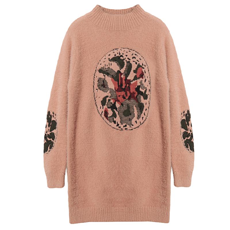 很仙的网红cec毛衣女2019春装新款韩版洋气百搭宽松中长款打底衫
