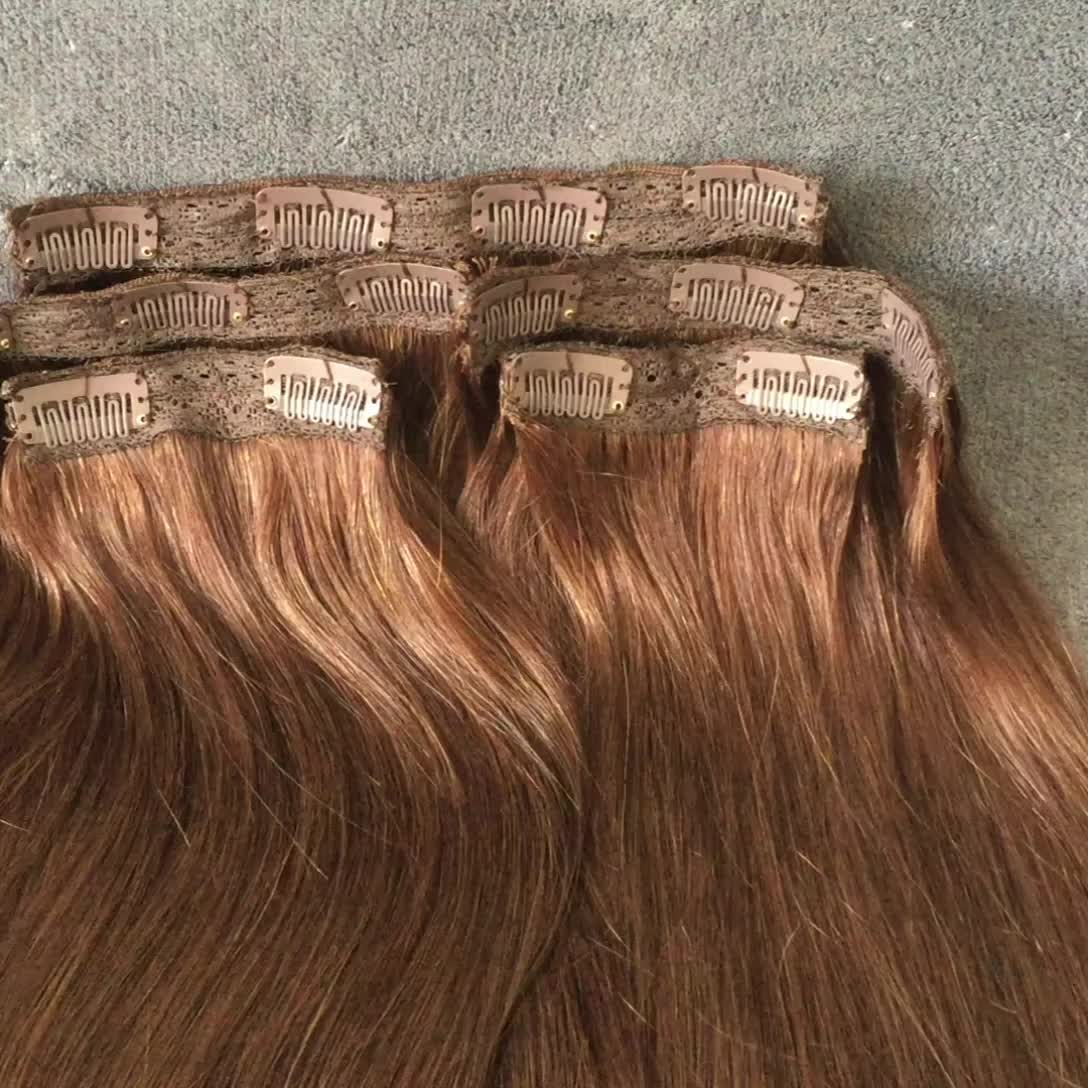 Manufacturer Price Soft Silky Remy Clip In Hair Extension 220 Grams
