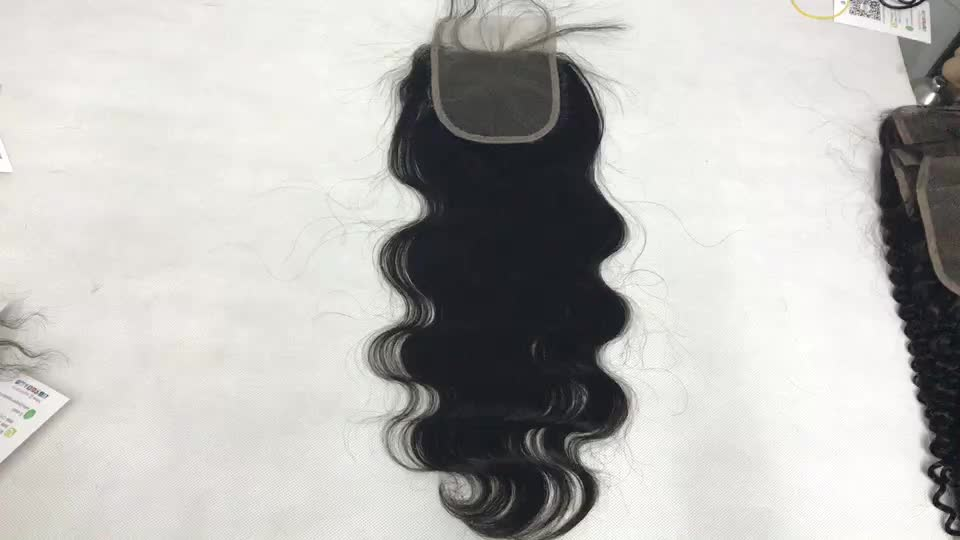 Edge Control For Black Hair From India , South East Asian Cuticle Aligned Lace Closure