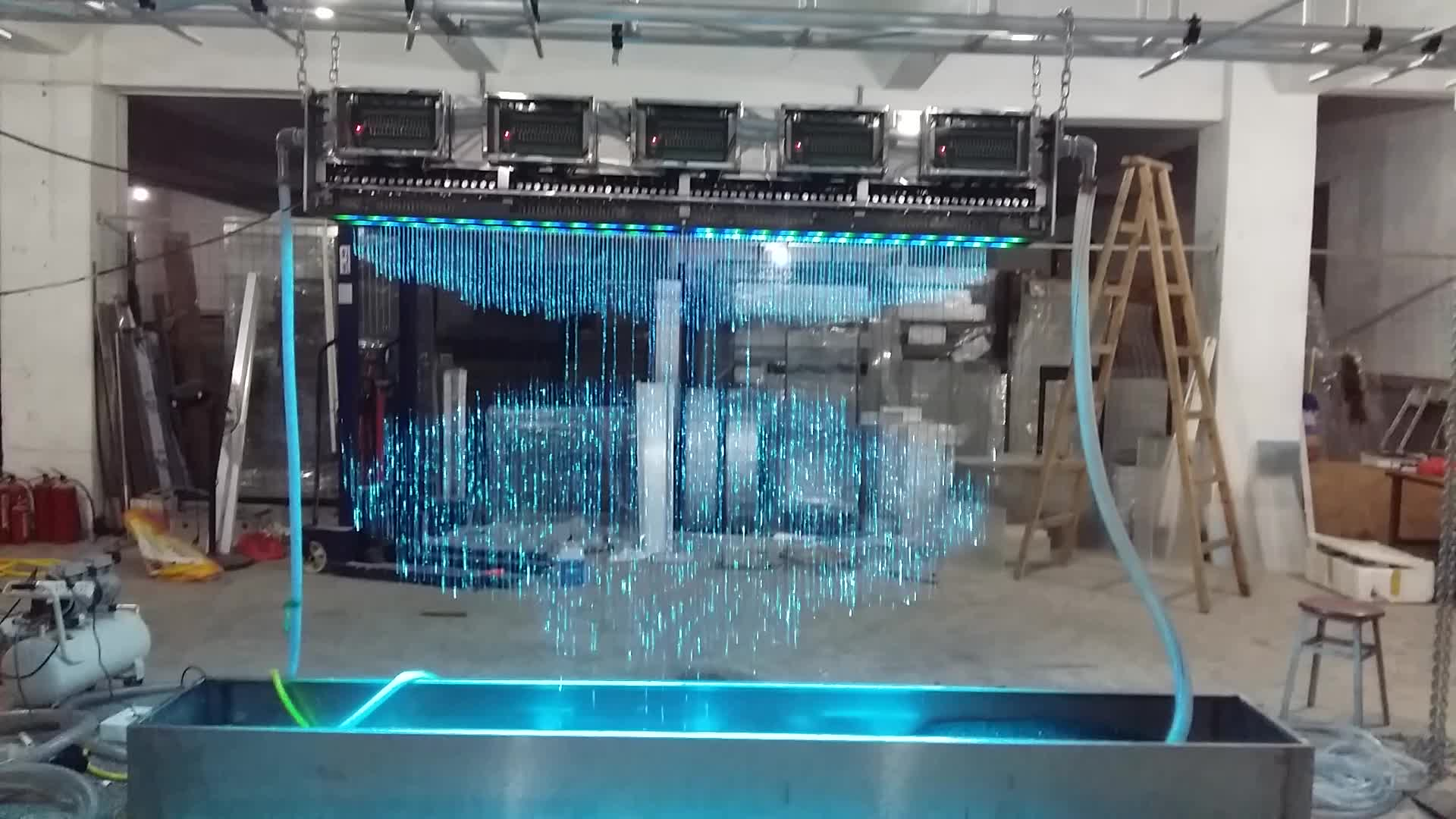 Digital Programmed Graphic Waterfall Fountain Dynamic