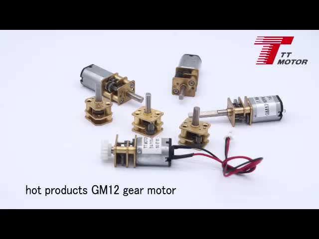 Small electric 12 volt geared dc motor with optical encoder