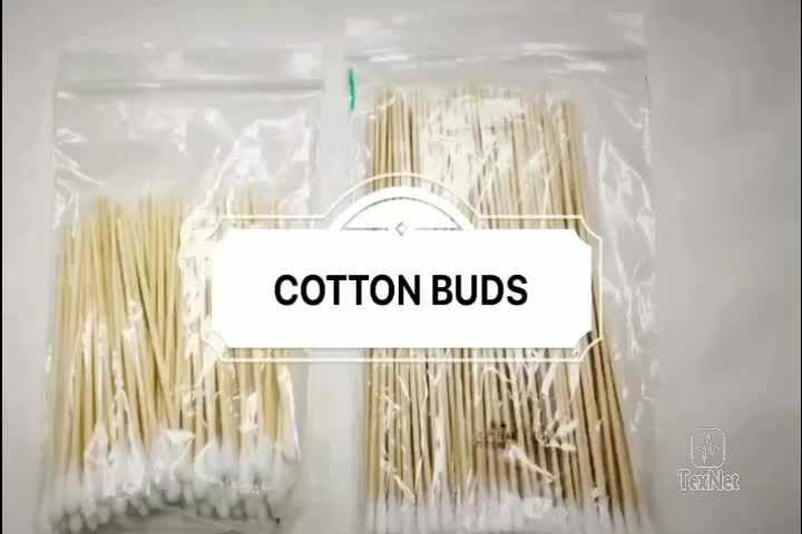 2019 Texnet Wood Stick Two Sided Sterile Cotton Bud