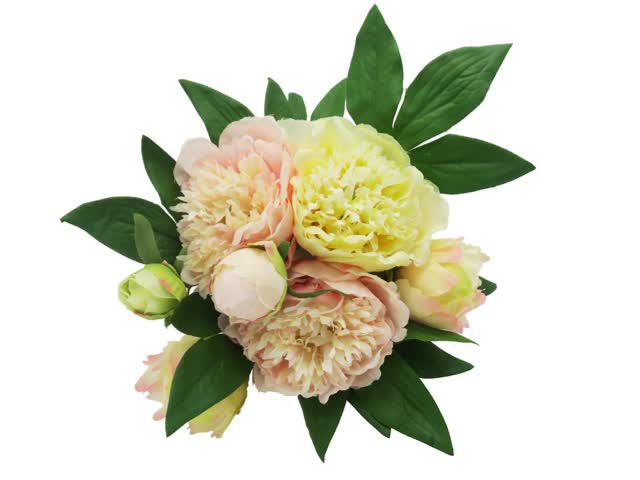 Artificial Silk Flowers Peony Bouquets for Wedding Bridal Centerpieces Decoration